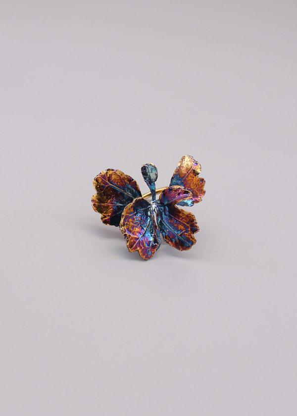 芹葉福祿桐葉-硫化銀戒指-4