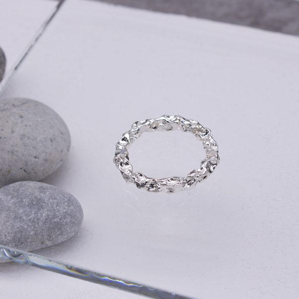 半天花 純銀戒指 M款-1