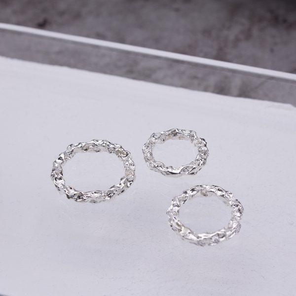 半天花 純銀戒指 M款-2