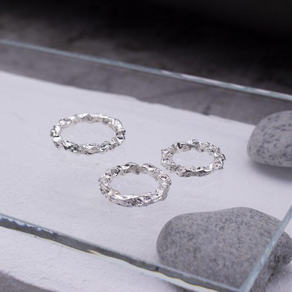 半天花 純銀戒指 M款-3