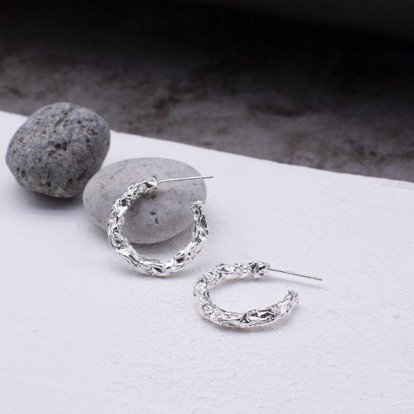 半天花 純銀耳環 M款-1