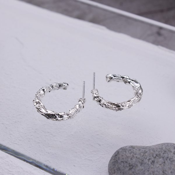 半天花 純銀耳環 M款-2