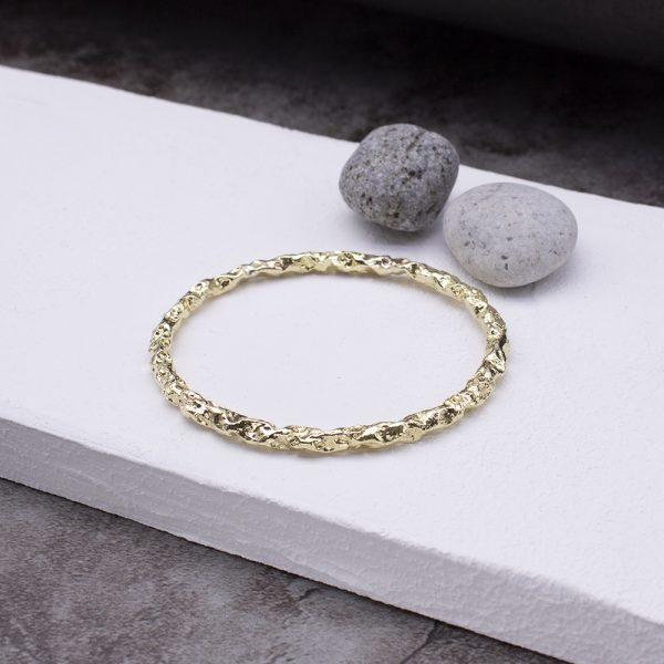 半天花 黃銅手環 S款-1