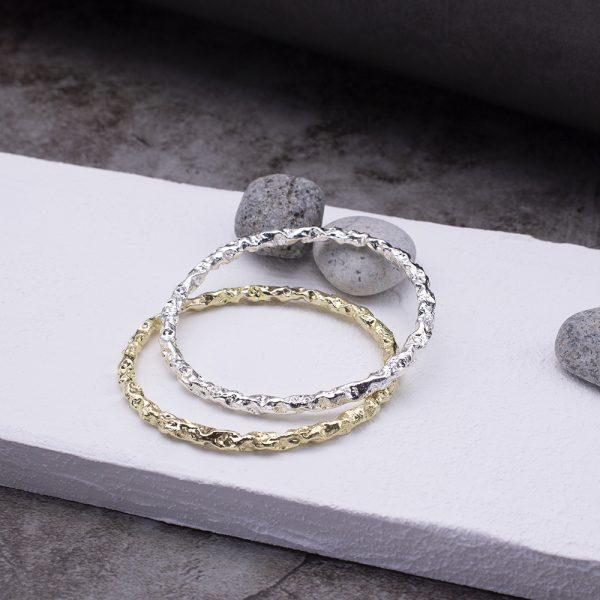 半天花 黃銅手環 S款-3