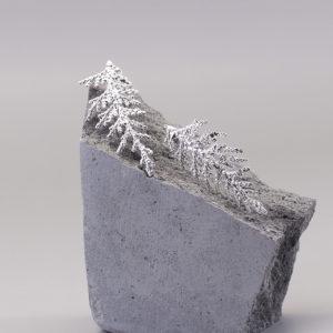 扁柏葉 純銀耳環-1