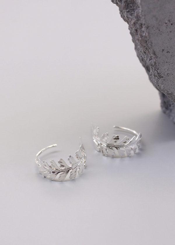 長生鐵角蕨 純銀耳環-4