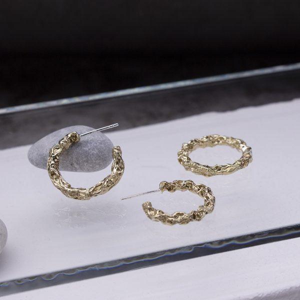 半天花 黃銅耳環 M款-2