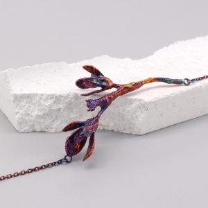 細葉杜鵑葉 硫化銀項鍊-1