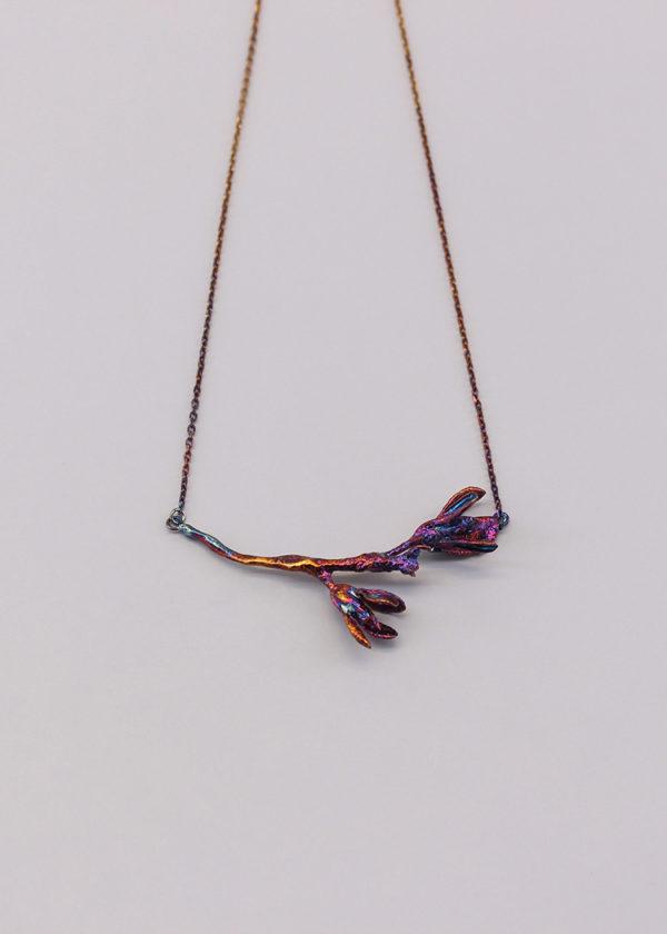 細葉杜鵑葉 硫化銀項鍊-5