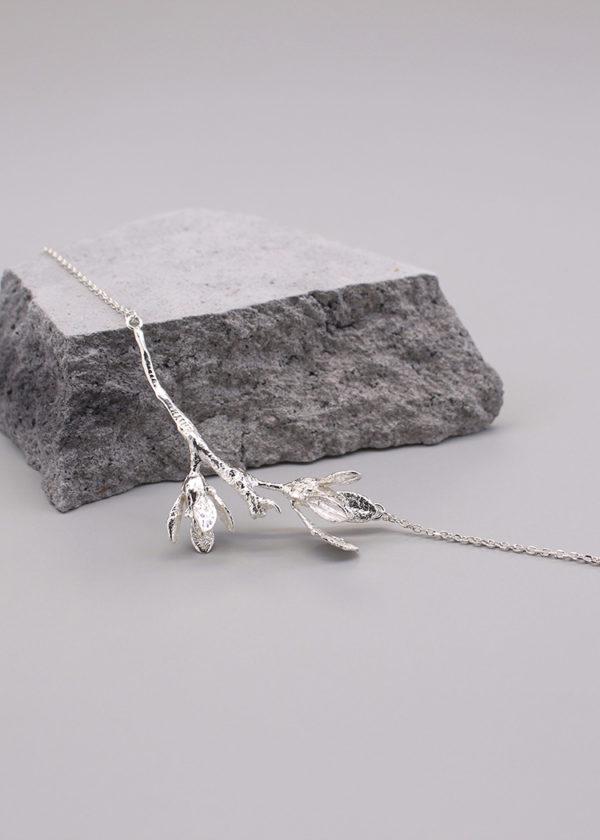 細葉杜鵑葉 純銀項鍊-3