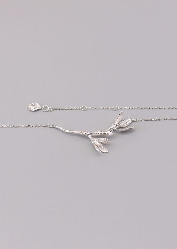 細葉杜鵑葉 純銀項鍊-5