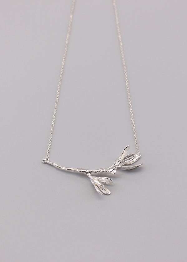 細葉杜鵑葉 純銀項鍊-6