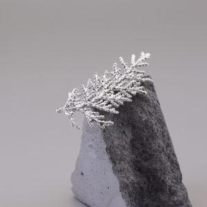 扁柏葉 純銀別針 小-1