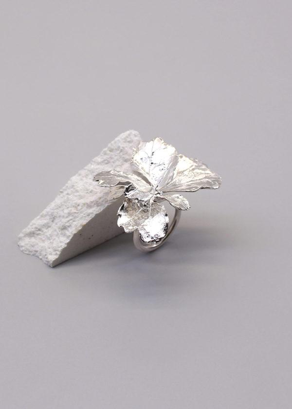 芹葉福祿桐葉-純銀戒指-1