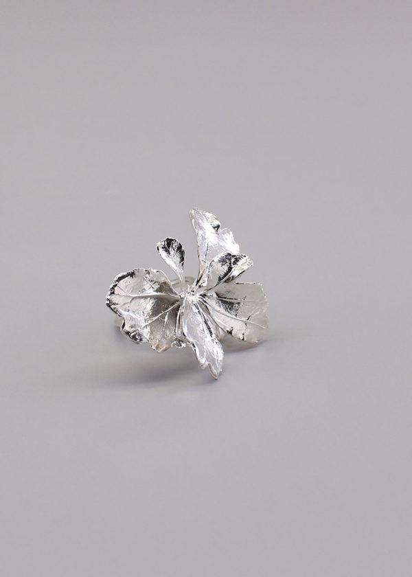 芹葉福祿桐葉-純銀戒指-2