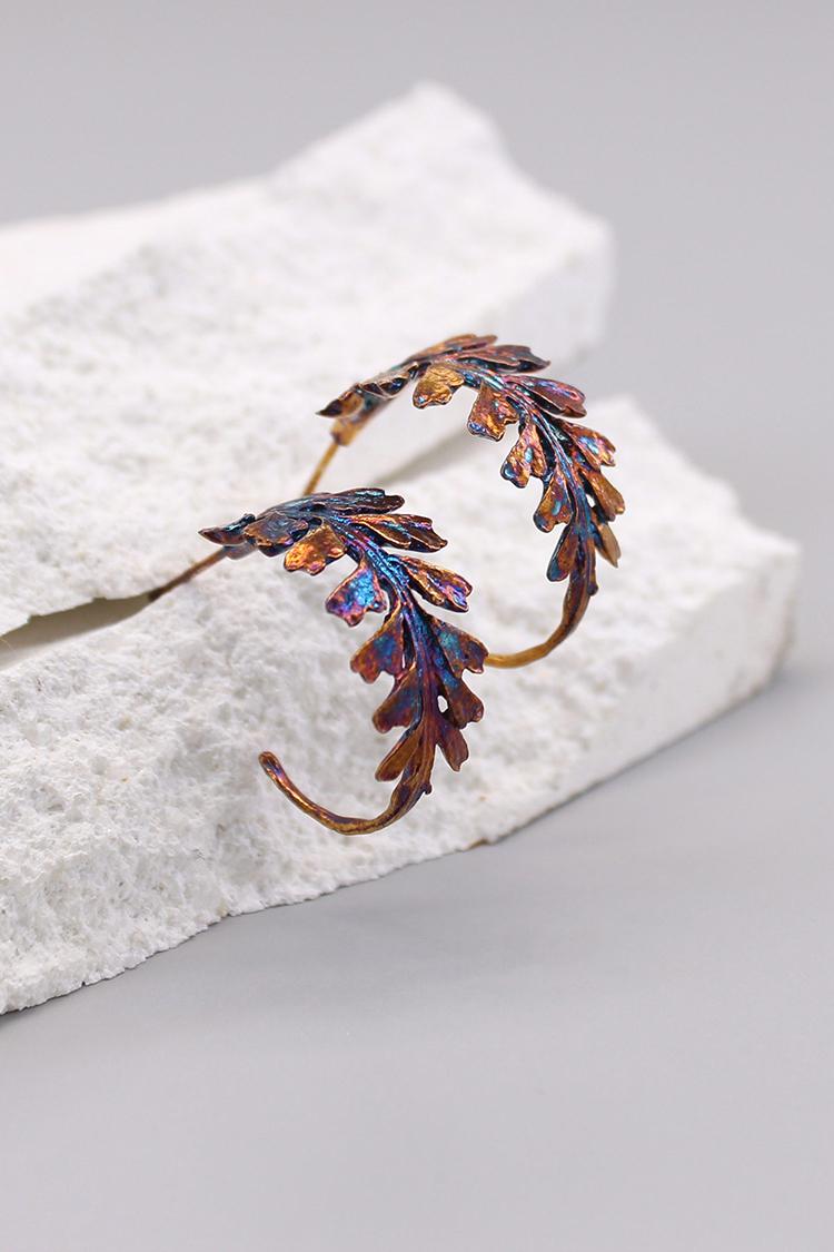 長生鐵角蕨 硫化銀耳環-主頁