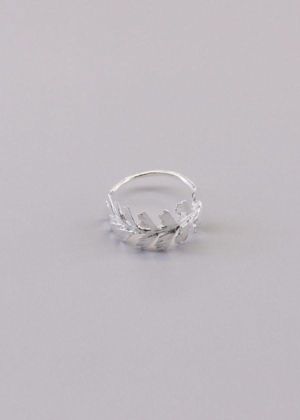 長生鐵角蕨 純銀戒指-1
