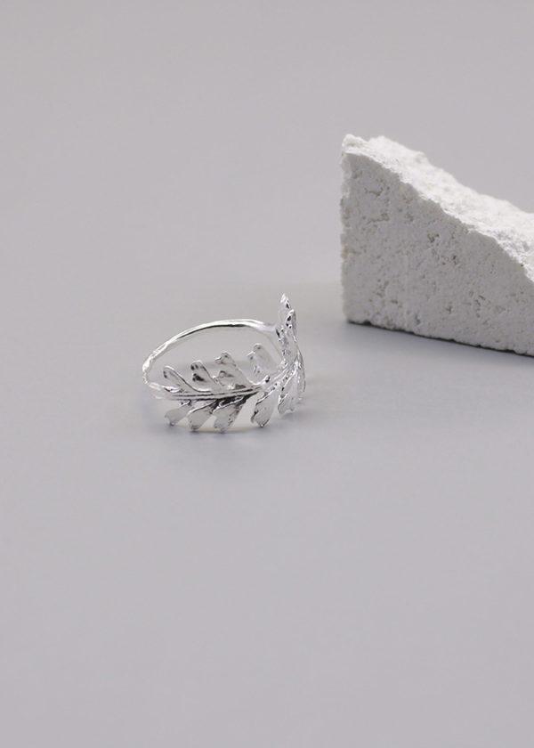 長生鐵角蕨 純銀戒指-2