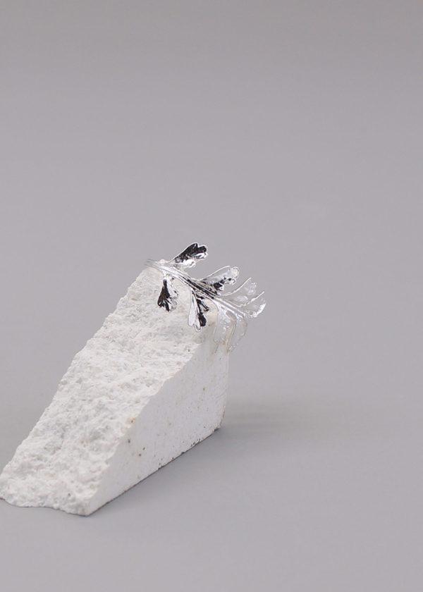長生鐵角蕨 純銀戒指-4