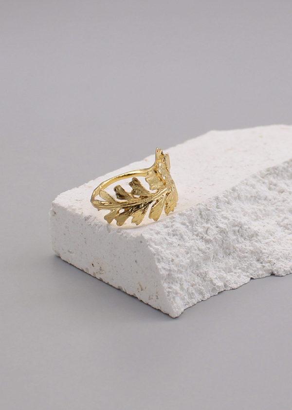 長生鐵角蕨 18K鍍金戒指-2