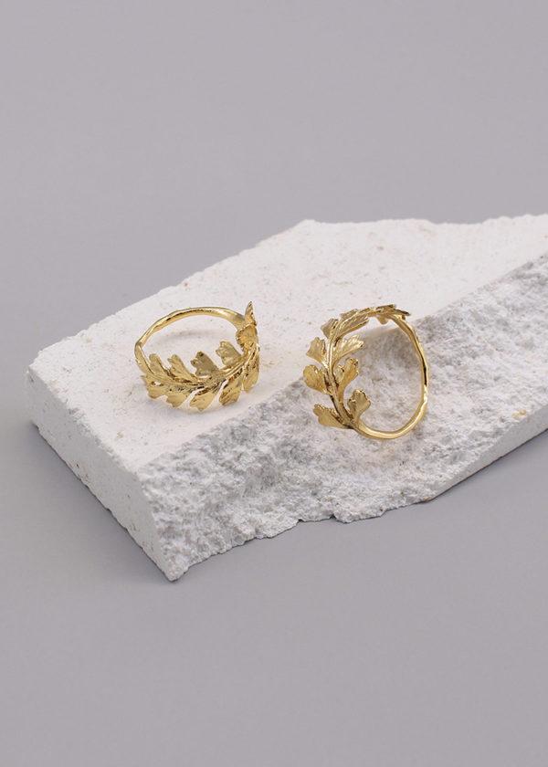 長生鐵角蕨 18K鍍金戒指-3